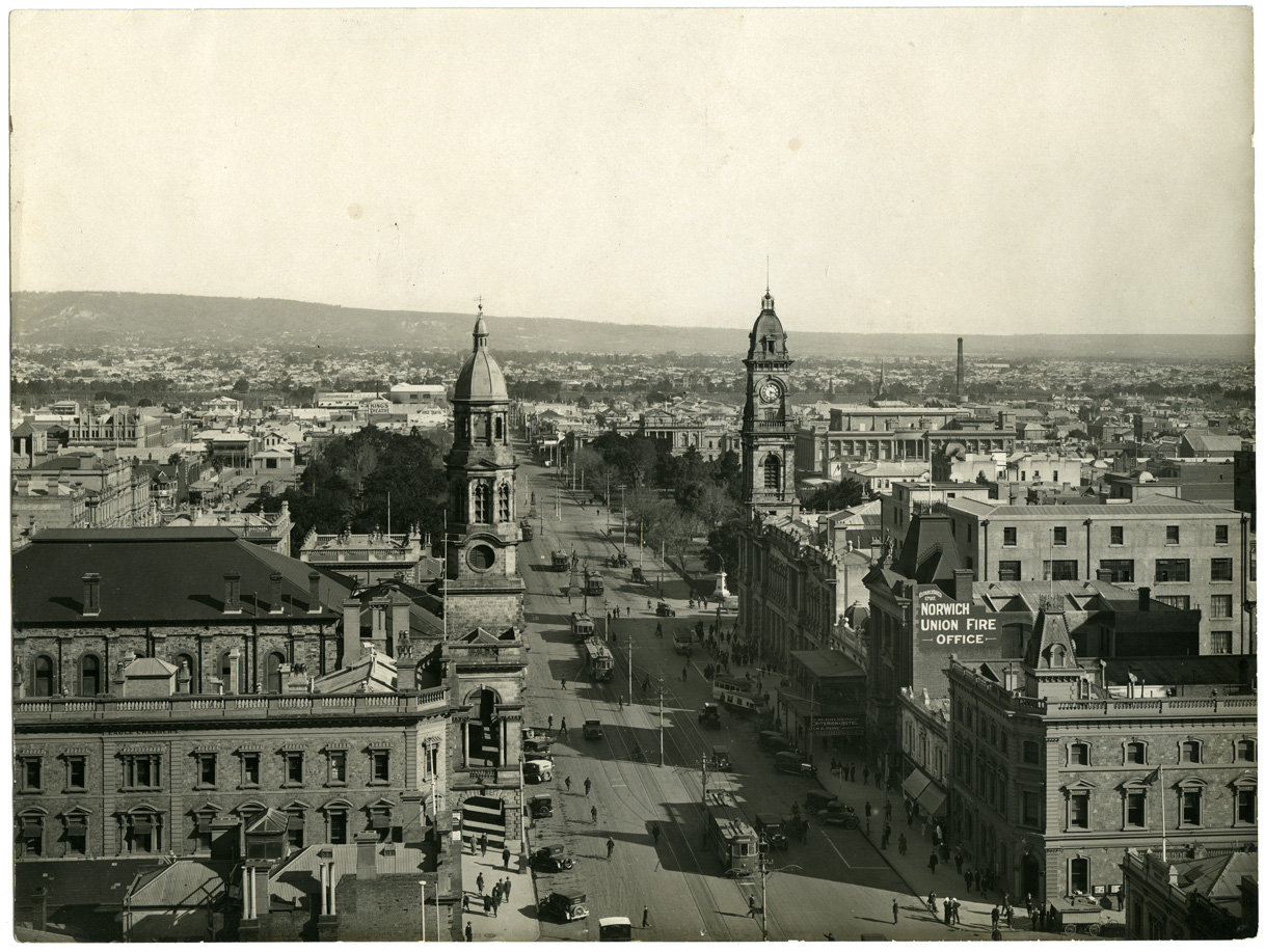 Adelaide Town Hall and General Post Office, c. 1930
